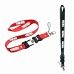 Customized USB Flash Drive Lanyards with 1 to 16GB Buckle, Made of Polyester/Nylon/Bamboo/Cotton