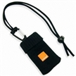 Handy Mobile Phone Sock Lanyard with Logo on PVC Rubber Label, Made of Polyester