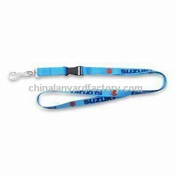 Mobile Phone Lanyard with Transfer Printing Logo, Made of Polyester Material