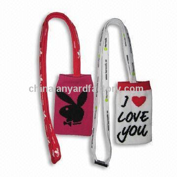 Mobile Sock Lanyard with Polyester Strap and Mobile Holder Sock