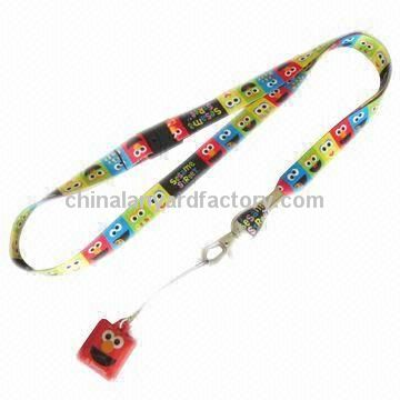 Mobile Phone Holder Lanyard/Polyester Neck Holder Straps with Mobile Cleaner