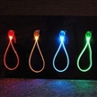 LED Flashing Strap for Cell Phones and Keychains, Made of ABS Case/PU Wire