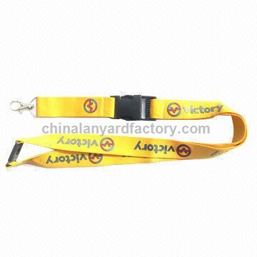 Woven Lanyard, Logo Can be Printed or Woven, Customized Designs are Accepted