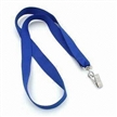 Blue Woven Lanyard with Metal Clip, Made of Polyester