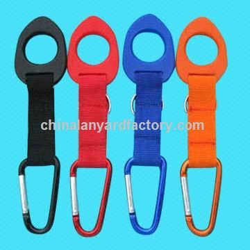 Best Promotional Carabiner Bottle Holder with Lanyard, Best Selling Novelty, with Compass