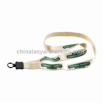 Cotton Lanyards, PVC Free Ink are Available