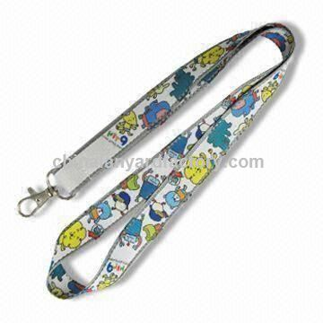 Custom Satin Lanyard, Available in Various Fittings, Customized Designs are Accepted