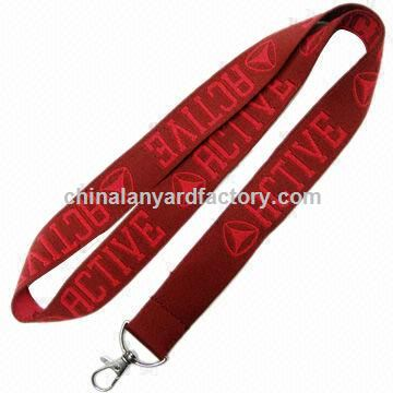 Custom woven lanyards, minimum order, made of polyester, customized size