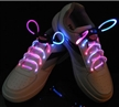 Fiber LED Shoelaces for Christmas Blue Pink