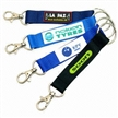 Promotional Short Strap Lanyard with Carabiner Hook and Metal Split Ring