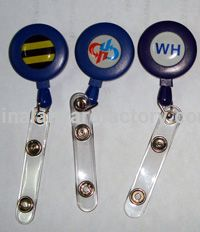 Customized Various Shape Decorative Retractable Badge Holders