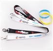 2016 latest design polyester flat tubular lanyards