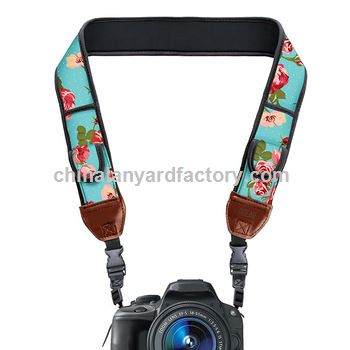 Design Personalized Soft Jacquard Woven  Fabric DSLR Camera Strap